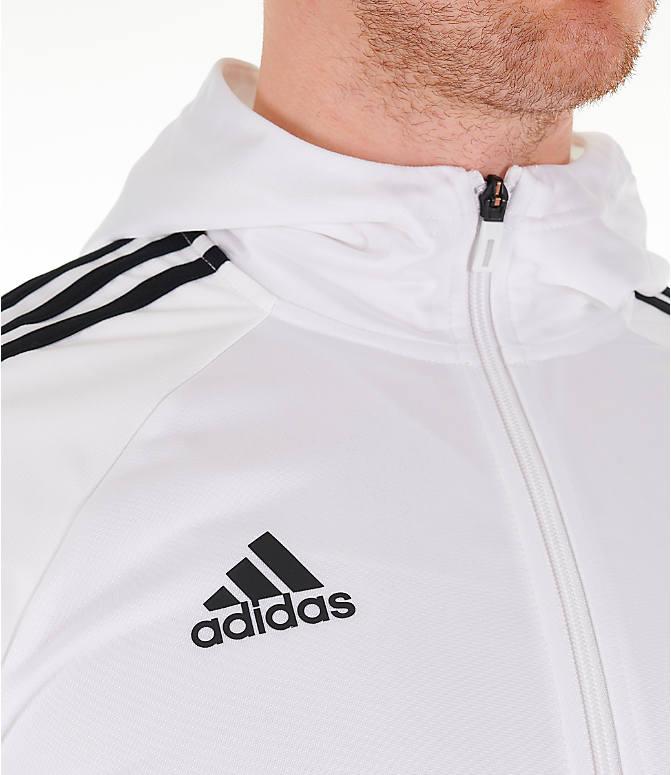 a4366d1d374b8d Detail 2 view of Men's adidas Originals Tango Full-Zip Hoodie in White/Black