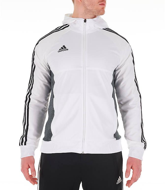7e54e5c85635bb Front Three Quarter view of Men's adidas Originals Tango Full-Zip Hoodie in  White/