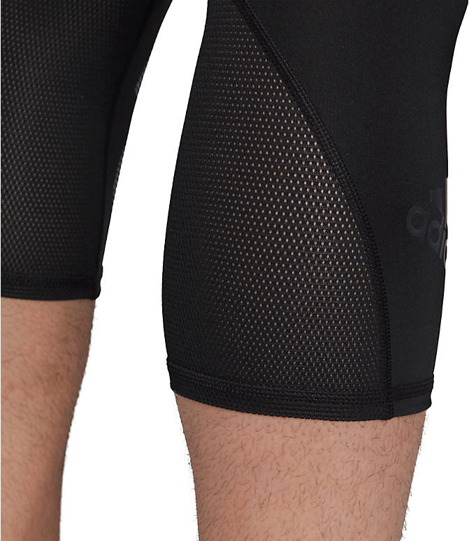 Detail 3 view of Men's adidas Alphaskin BOS 3/4 Tights in Black