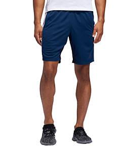 Men's adidas 4KRFT 9-inch Sport Heather 3-Stripes Training Shorts