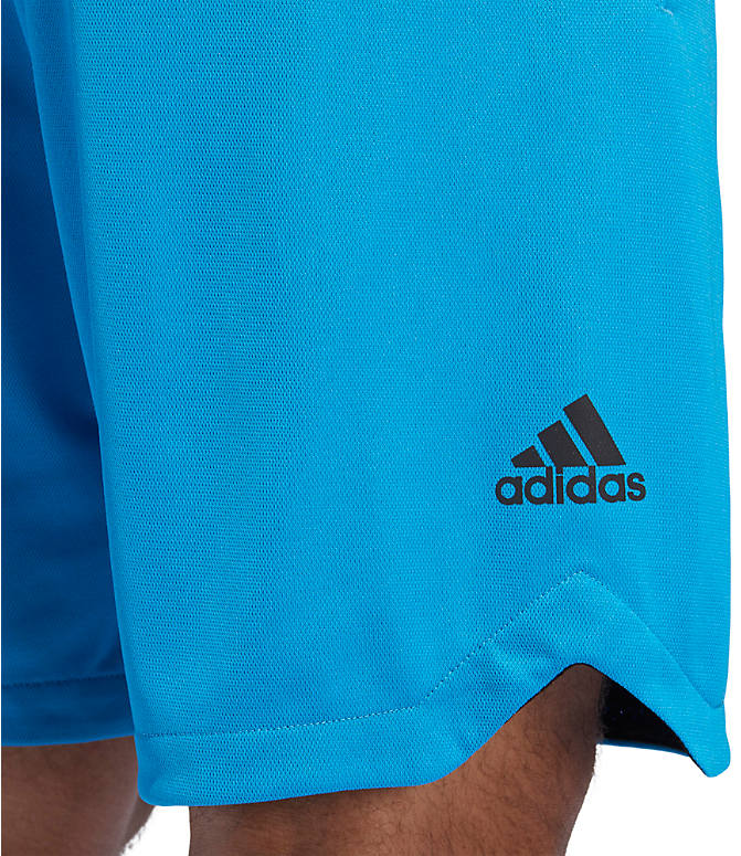 Detail 1 view of Men's adidas ACT 3-Stripe Basketball Shorts in Shock Cyan