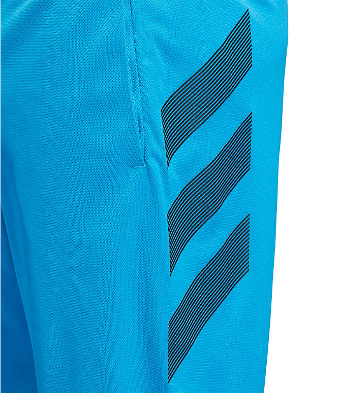 Detail 2 view of Men's adidas ACT 3-Stripe Basketball Shorts in Shock Cyan