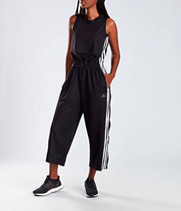 Women's adidas Athletics Cropped Leg Snap Jumpsuit