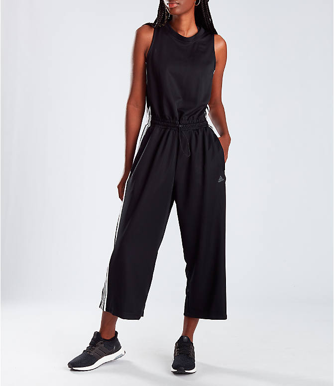 Women's Adidas Athletics Cropped Leg Snap Jumpsuit by Adidas