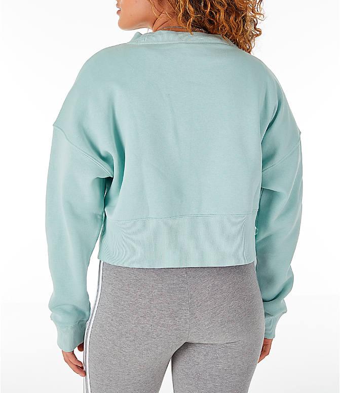 4dbea0279b Back Left view of Women's adidas Originals Coeeze Cropped Sweatshirt in  Vapour Green