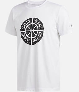 Men's adidas Live By Ball Graphic T-Shirt