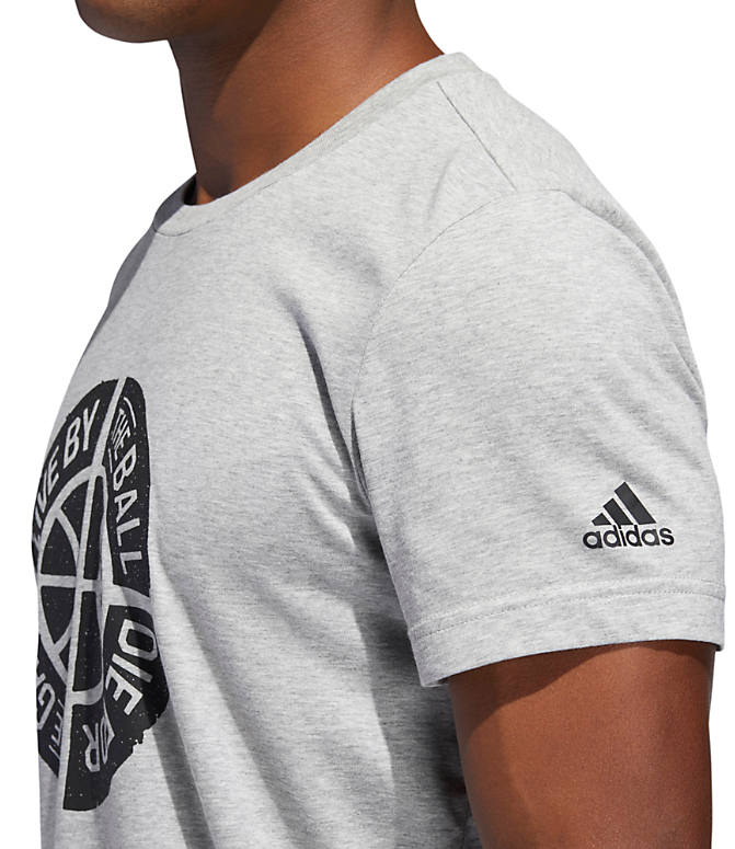 Detail 1 view of Men's adidas Live By Ball Graphic T-Shirt in Medium Grey Heather