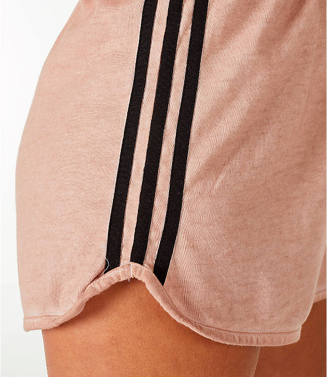 Back Right view of Women's adidas Originals Dye Injection Pack Strapless Romper in Dusty Pearl