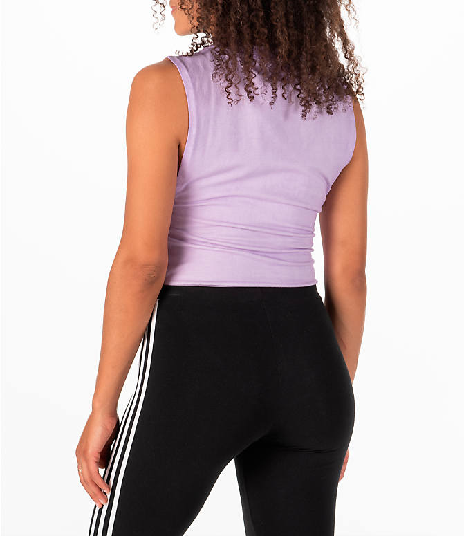 Back Left view of Women's adidas Originals Tie Dye Bodysuit in Purple Tie Dye