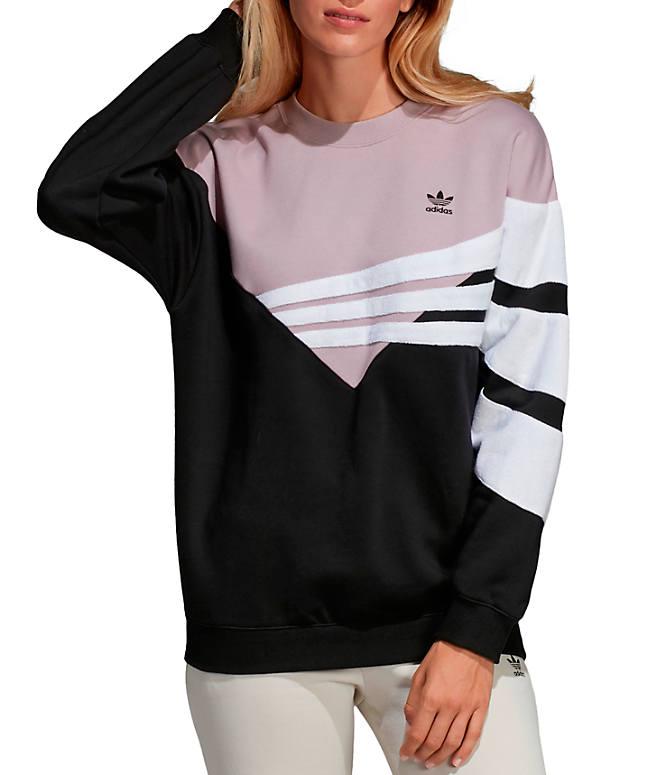 52cb7694361028 Front view of Women s adidas Originals EQT Sweatshirt in Black Soft Vision