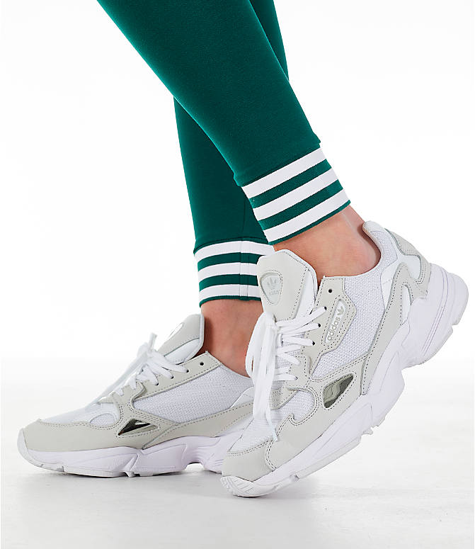 Detail 2 view of Women's adidas Originals Stripe Out Leggings in Green/White