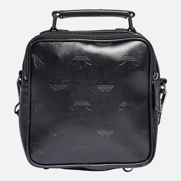 Front view of adidas Originals Mini Airliner Bag in Black