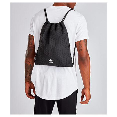 Correctamente calcular Apto  Adidas Originals Adidas 3d Gym Sack In Black Leather   ModeSens