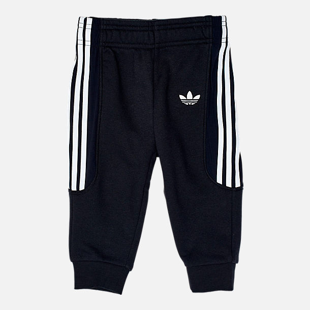 Alternate view of Infant and Toddler adidas Fleece Jogger Set in Black