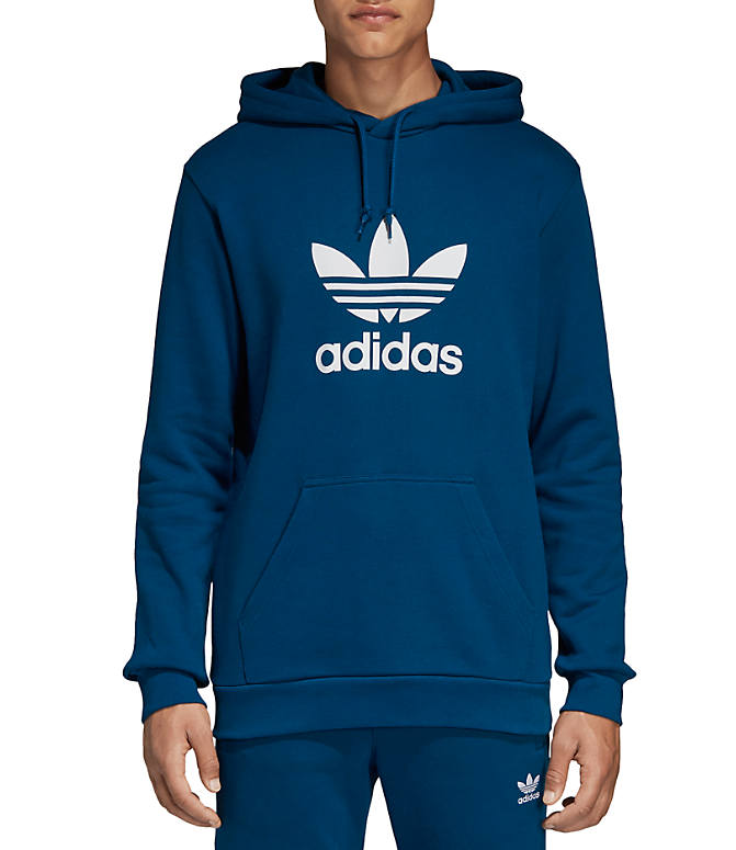 745340ac13a1 Front view of Men s adidas Originals Trefoil Hoodie in Legend Marine