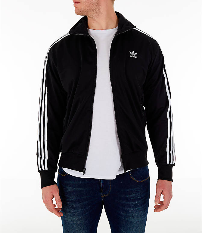 Mens adidas Firebird Track Jacket Black DV1530