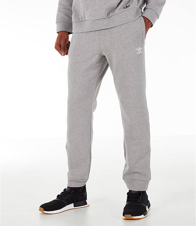Front view of Men's adidas Essentials OG Sweatpants in Medium Grey