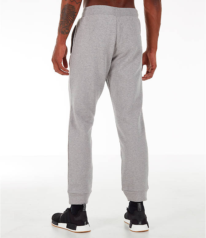 Back Left view of Men's adidas Essentials OG Sweatpants in Medium Grey