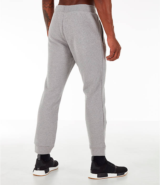 Back Right view of Men's adidas Essentials OG Sweatpants in Medium Grey