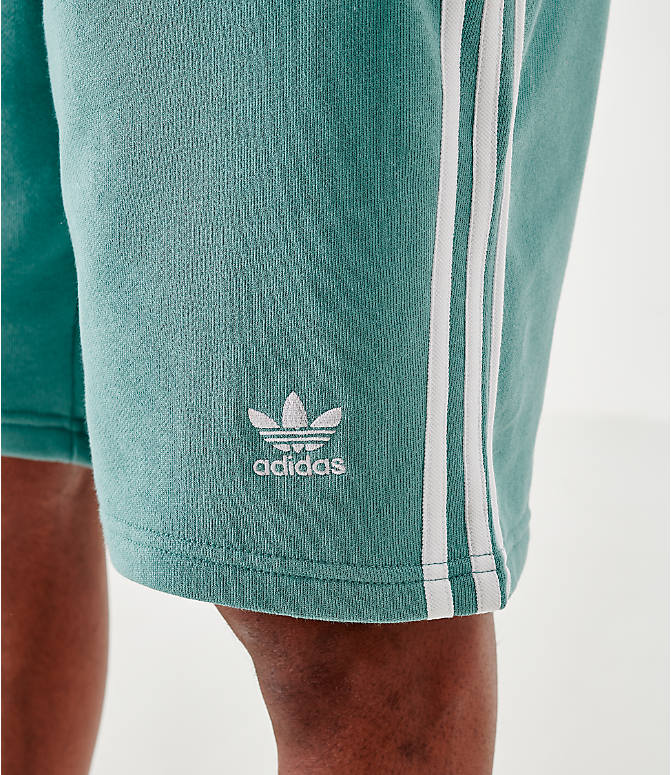 On Model 5 view of Men's adidas Originals 3-Stripes Shorts in Grey
