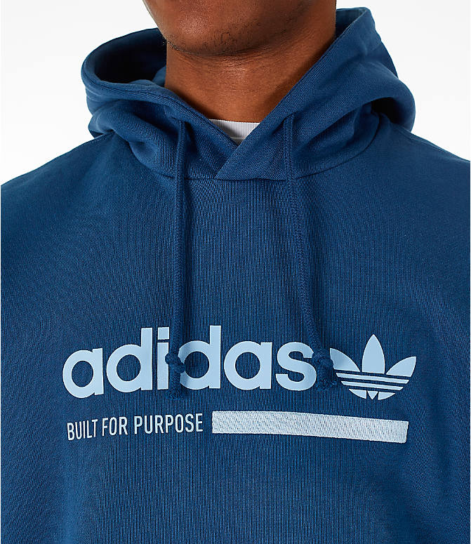 Detail 1 view of Men's adidas Originals Kaval Graphic Hoodie in Night Marine