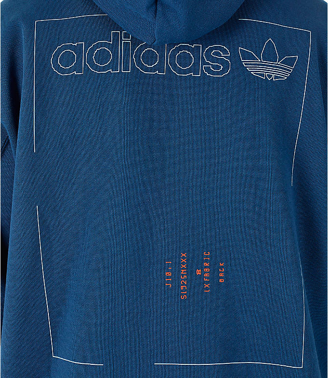 Detail 2 view of Men's adidas Originals Kaval Graphic Hoodie in Night Marine