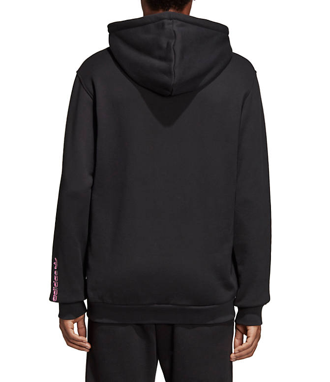 Front Three Quarter view of Men's adidas Originals 3D Hoodie in Black