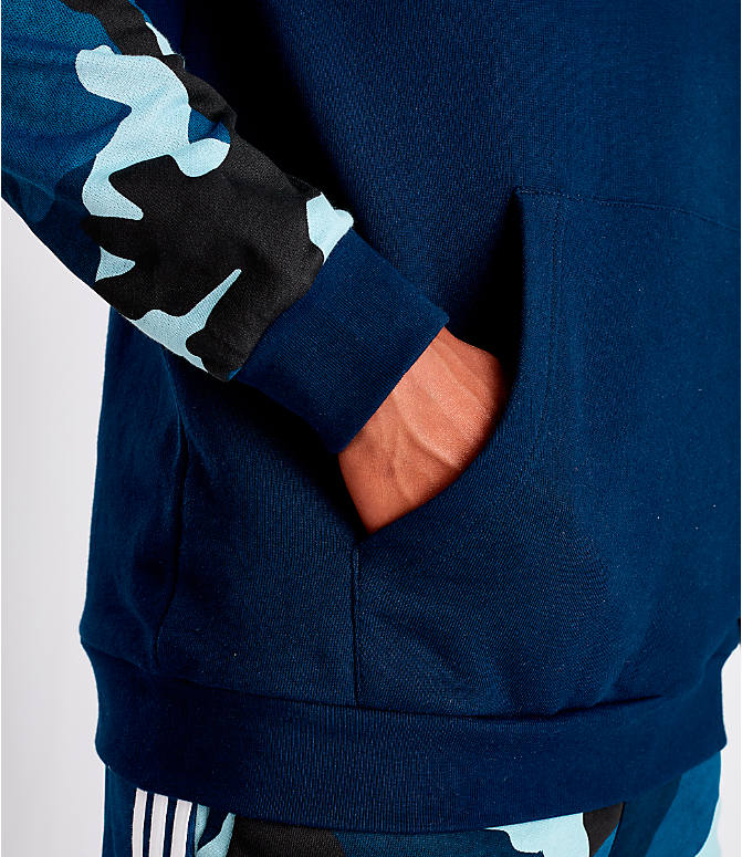Detail 2 view of Men's adidas Originals Camouflage Hoodie in Blue Camo