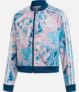 Girls' adidas Originals Marble Crop SST Track Jacket