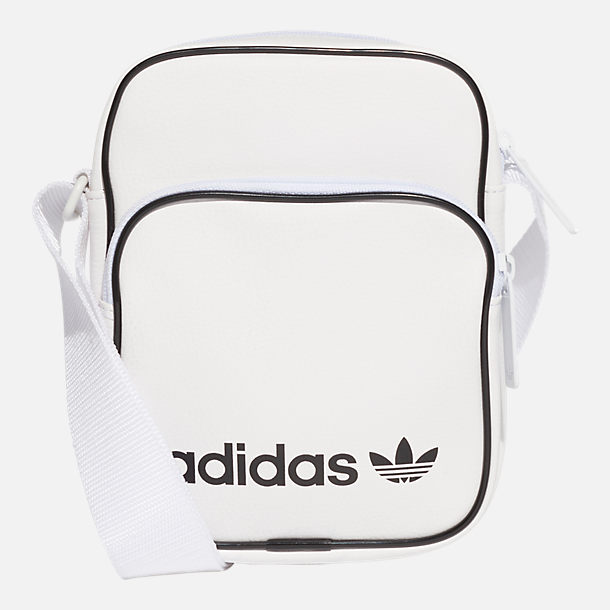 45010e0af3 Front view of adidas Originals Mini Vintage Shoulder Bag in White