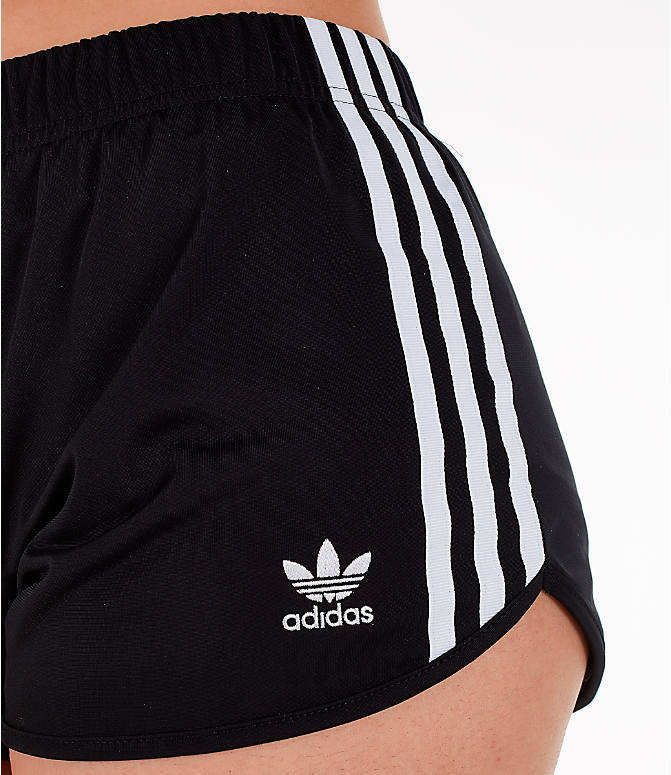 Detail 1 view of Women's adidas Originals 3-Stripes Shorts in Black/White