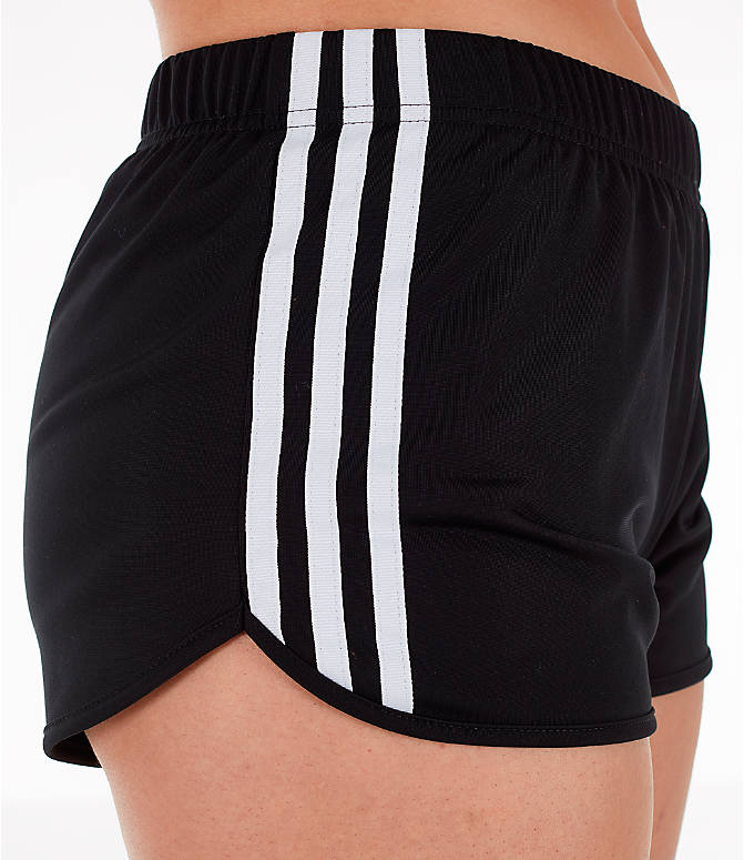 Detail 2 view of Women's adidas Originals 3-Stripes Shorts in Black/White