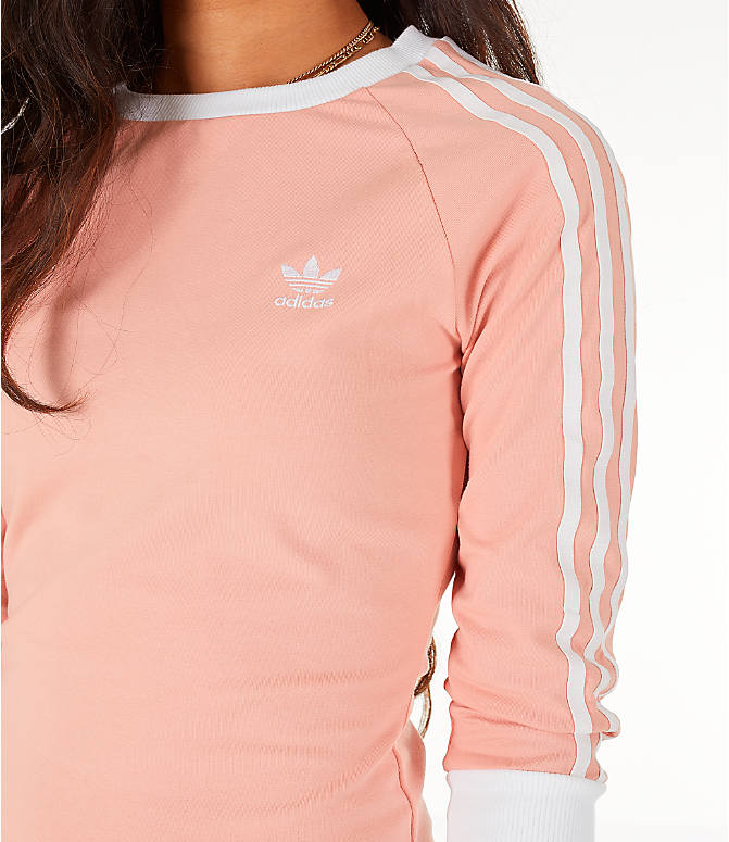 Detail 1 view of Women's adidas Originals 3-Stripes Dress in Dust Pink