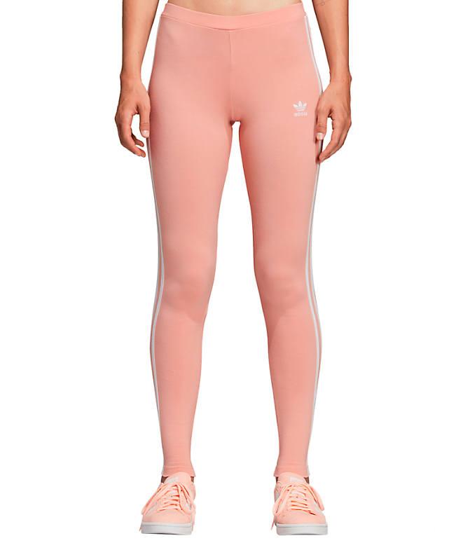 1626aaf170 Front view of Women s adidas Originals 3-Stripes Leggings in Dust Pink