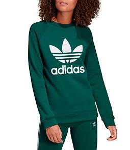 Women's adidas Originals Trefoil Fleece Crew Sweatshirt