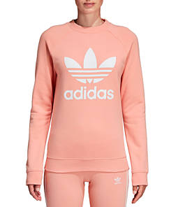 Women's adidas Originals Trefoil Fleece Crew Sweatshirt
