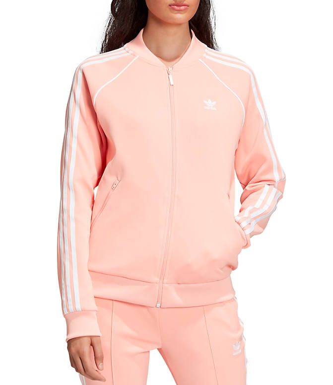 95180d862e50f6 Front view of Women s adidas Originals Superstar Track Jacket in Dust Pink