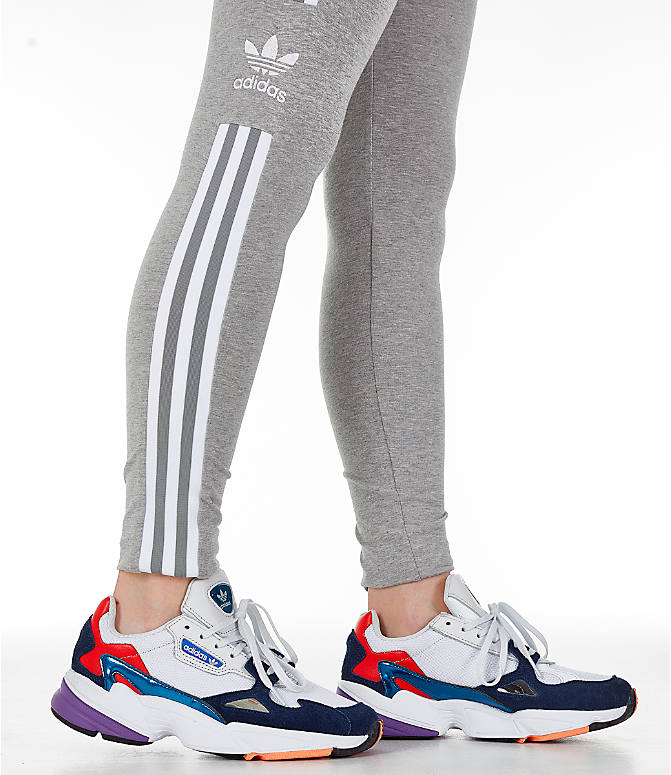 Detail 2 view of Women's adidas Originals Trefoil Leggings in Medium Grey Heather