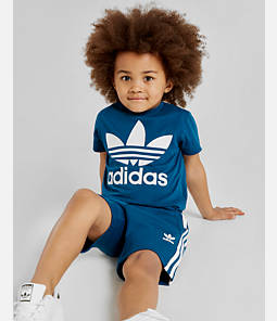 Little Kids' and Toddler adidas Originals Trefoil T-Shirt and Shorts Set