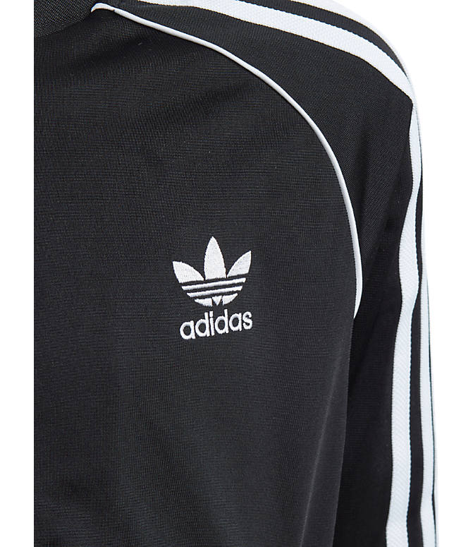 Product 3 view of Kids' adidas Originals Trefoil Track Jacket in Black/White