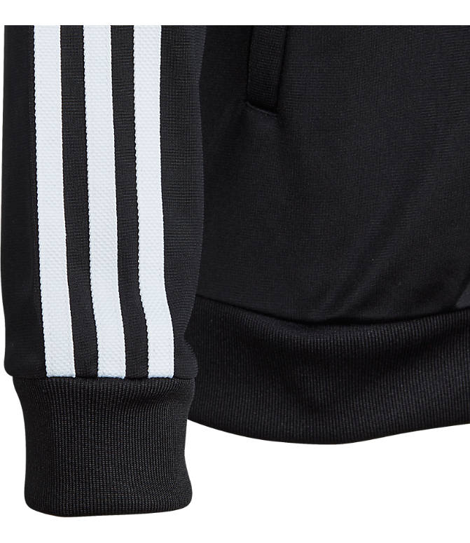 Product 4 view of Kids' adidas Originals Trefoil Track Jacket in Black/White