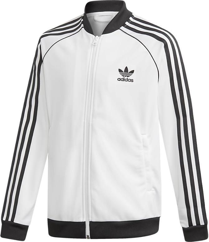 44679d29 Front view of Kids' adidas Originals Trefoil Track Jacket in White/Black