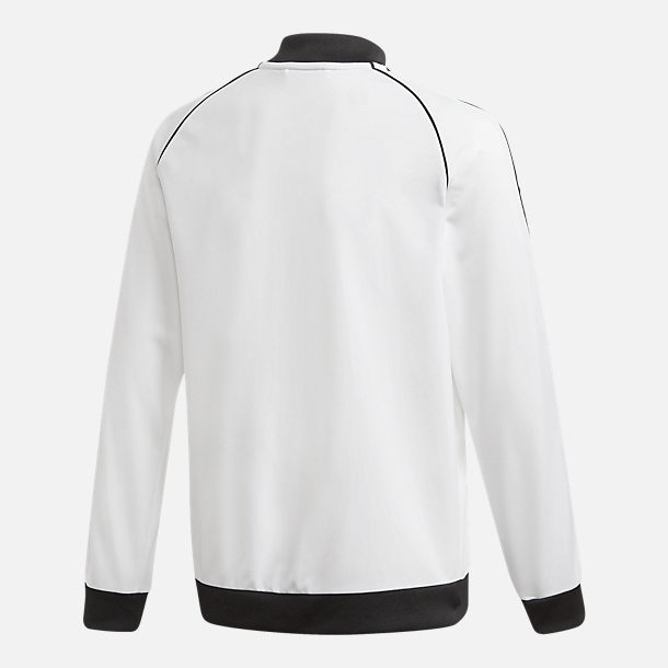 Alternate view of Kids' adidas Originals Trefoil Track Jacket in White/Black