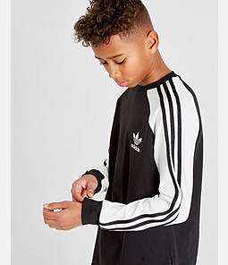 Kids' adidas Originals 3-Stripe Long Sleeve T-Shirt