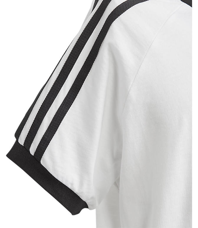 Product 3 view of Boys' adidas Originals 3-Stripes T-Shirt in White/Black