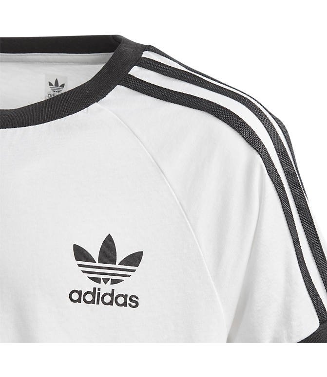 Product 4 view of Boys' adidas Originals 3-Stripes T-Shirt in White/Black