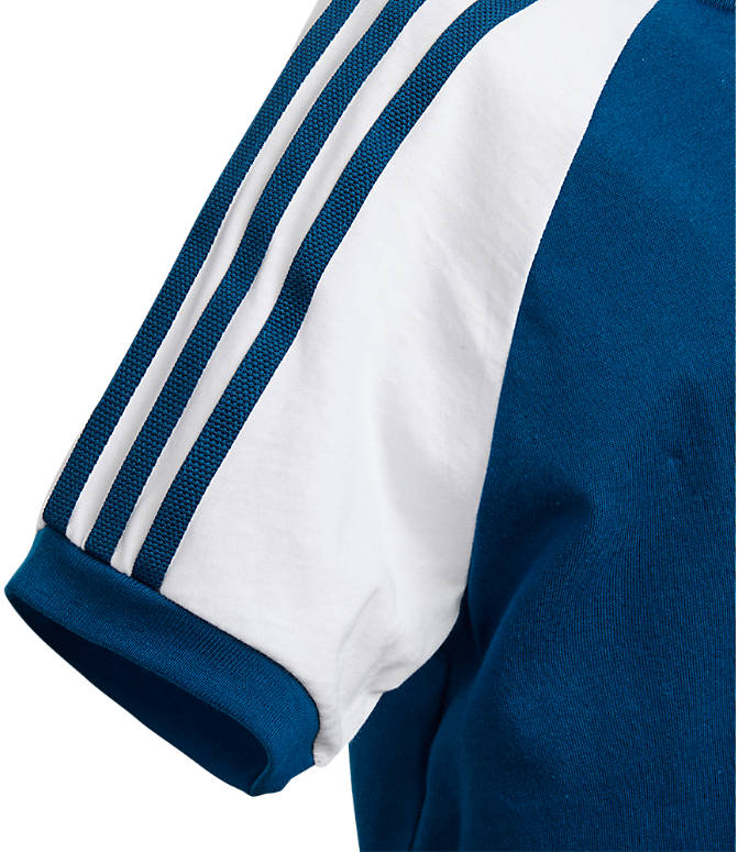 Product 3 view of Boys' adidas Originals 3-Stripes T-Shirt in Marine Blue