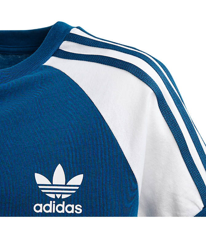 Product 4 view of Boys' adidas Originals 3-Stripes T-Shirt in Marine Blue