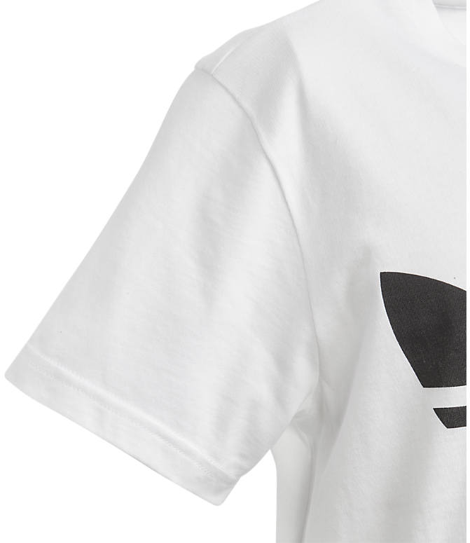 Product 3 view of Kids' adidas Originals Trefoil T-Shirt in White/Black