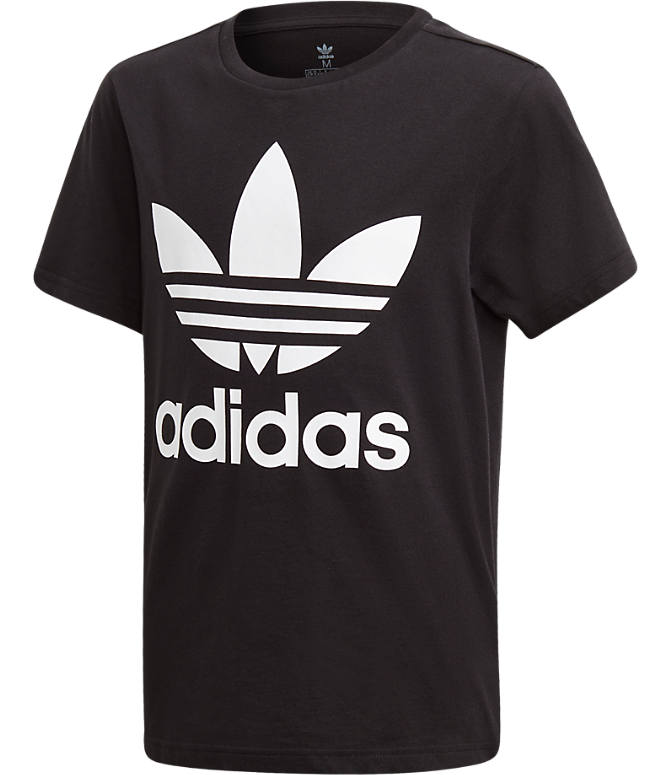 547fc08ec1f Front view of Kids' adidas Originals Trefoil T-Shirt in Black/White